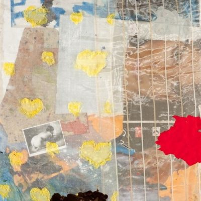 Bedri Baykam, Alter ego, 2007, Collage and plastic on canvas, 165x130 cm.