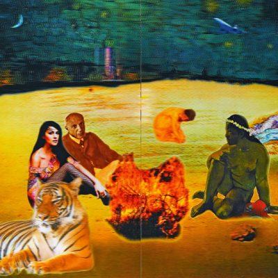 Bedri Baykam, The Ultimate Dejeuner, 2008, 4D Lenticuar, 183 x 244 cm.