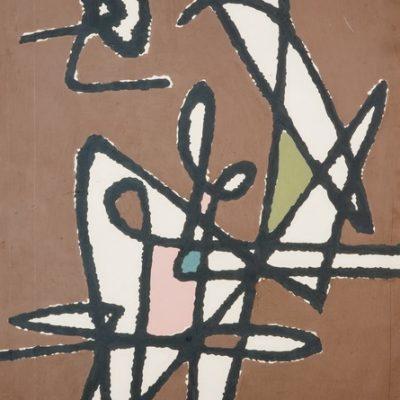 Sabri Berkel, 1956, Oil on hardboard, 100x70 cm.