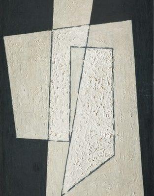 Cemal Bingöl, 1970, Duralit üzerine yağlıboya, 105x48 cm.