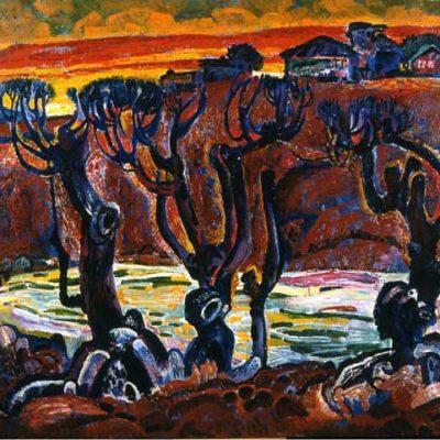 Asaf Caferov, Oil on canvas, 100x115 cm.