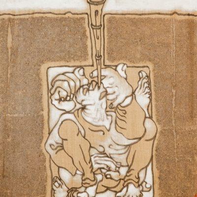 Abidin Dino, Mixed media on canvas, 73x60 cm.