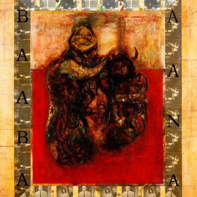 İsmet Doğan, Yazı-Beden, 2000-2002, Tuval üzerine karışık teknik, 120x100 cm.