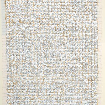 Gia Edzgveradze, Mixed media on paper, 78x59 cm.