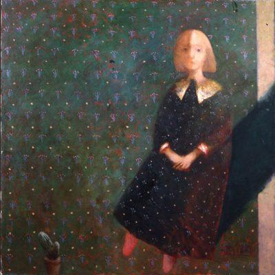 Elyar Elimirzayev, Oil on canvas, 97x97 cm.