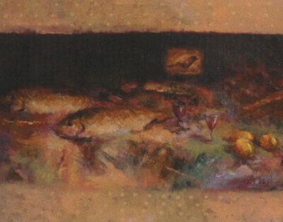 Elyar Elimirzayev, Oil on canvas, 55x95 cm.