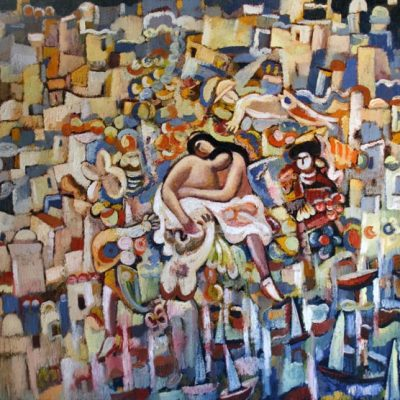 Müseyib Amirov, Dedication to V. Mustafazade, 2007, Oil on canvas, 128x148 cm.
