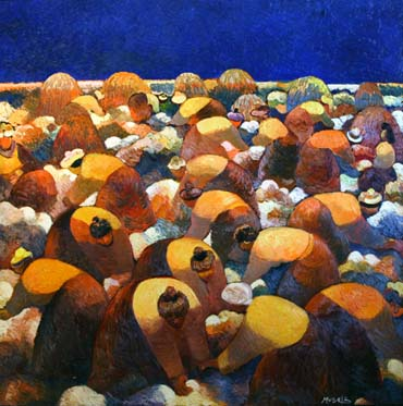Müseyib Amirov, Oil on canvas, 150x150 cm.