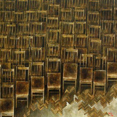 Zurab Gikashvili, 2006, Tuval üzerine yağlıboya, 110x110 cm.