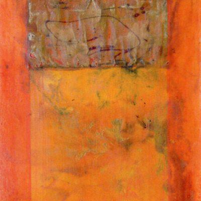 Dimitar Grazdonov, 2003, Mixed media on canvas, 80x60 cm.