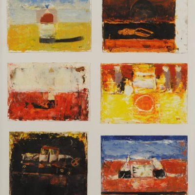 Gia Gugushvili, Oil on paper, 60x54 cm.