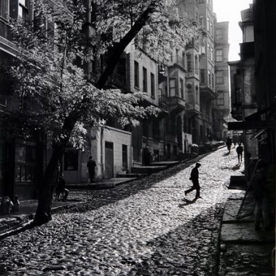 "Ara Güler, A street in ""Tarlabaşı"", 1965, 132x90 cm."
