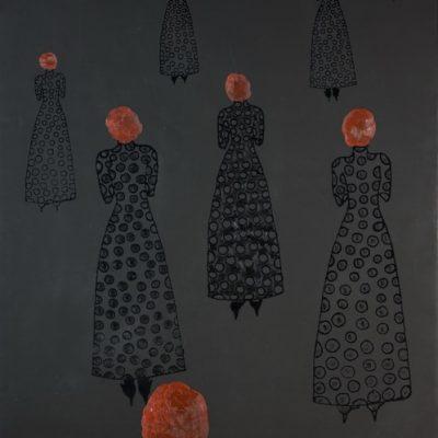 Selma Gürbüz, Send me the caviar, 2008-2009, Oil on canvas, 153x108 cm.