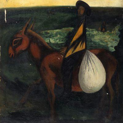 Ferhat Halilov, 1980, Oil on canvas, 100x100 cm.