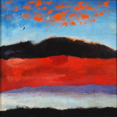 Ferhat Halilov, Oil on canvas, 41x41 cm.