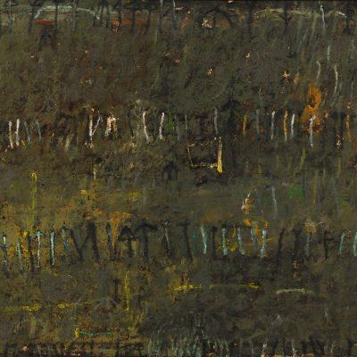Muhic Hamzalija, Landscape, 2002, Mixed media, 100x120 cm.