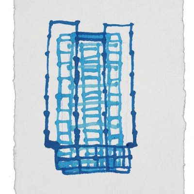 Susan Hefuna, Cityscape Istanbul, 2011, Ink on paper, 18,5x13,5 cm.