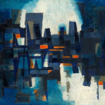 Nuri İyem, 1950'ler, Oil on canvas, 40x60 cm.
