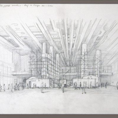 İlya Kabakov, 1970, Charcoal on paper, 30x40 cm.