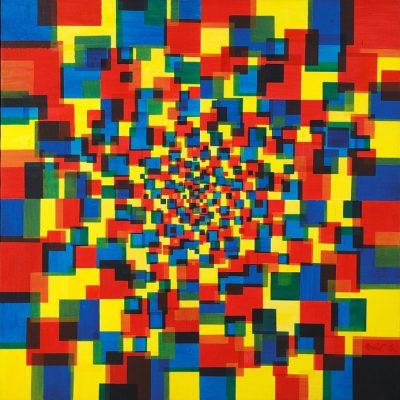 Emir Kapetanovic, 2006, Oil on canvas, 100x100 cm.