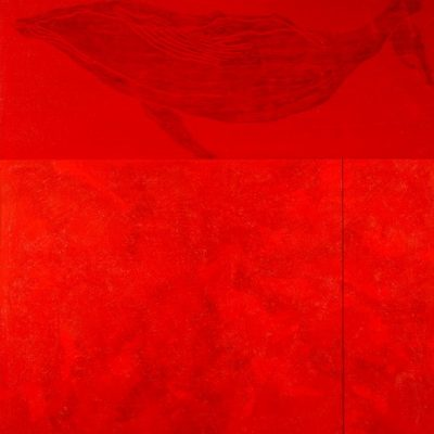 Devabil Kara, Red whale, 2008, Acrylic on canvas, 160x140 cm.