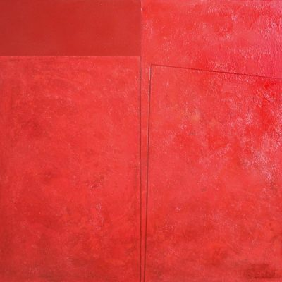 Devabil Kara, Red layer, 2007, Acrylic on canvas, 102x107 cm.