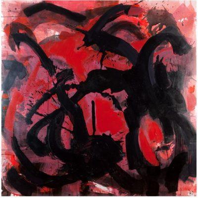 Bahar Kocaman, Dönüşüm, 2008, Tuval üzerine yağlıboya ve akrilik, 200x200 cm.