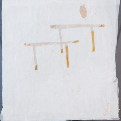 Azade Köker, 2007, Kağıt üzerine karışık teknik, 45x43 cm.