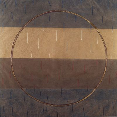 Galim Madanov, 1996, Mixed media on canvas, 120x120 cm.