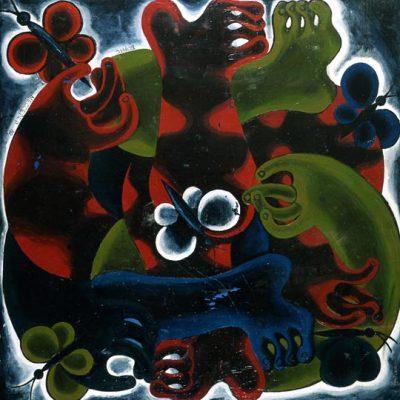 Boris Messerer, 1982, Tuval üzerine yağlıboya, 150x150 cm.