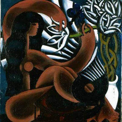 Boris Messerer, Oil on canvas, 90x85 cm.