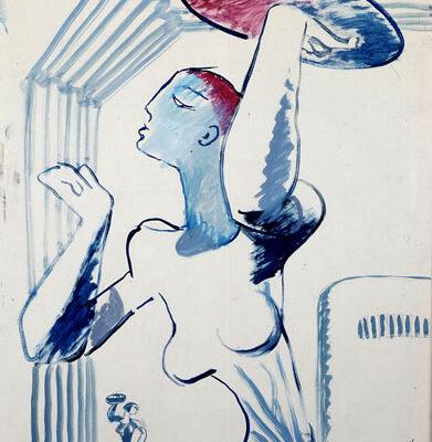 Boris Milyukov, 1977, Oil on paper, 85x61 cm.