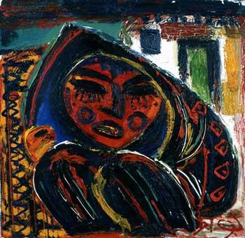 Javad Mirjavadov, 1987, Tuval üzerine yağlıboya, 60x60 cm.