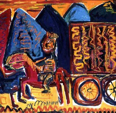 Javad Mirjavadov, 1984, Tuval üzerine yağlıboya, 100x140 cm.