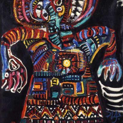 Javad Mirjavadov, Tuval üzerine yağlıboya, 120x97 cm.