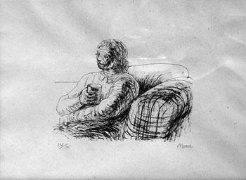 Henry Moore, 1973, Print, 22x30 cm.