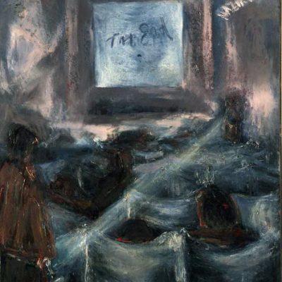 Haldun Naziker, Tuval üzerine yağlıboya, 120x100 cm.