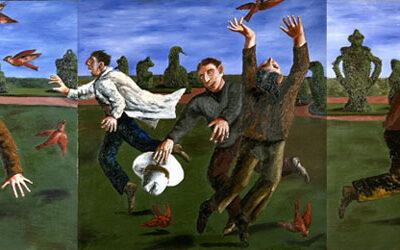 Natalya Nesterova, 1989, Tuval üzerine yağlıboya, 150x450 cm.