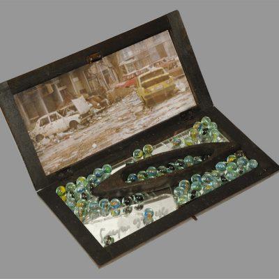 Edin Numankadic, Sarajevo Box 1992-96, Mixed material in wooden box, 17x34x19 cm.