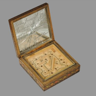 Edin Numankadic, Sarajevo Box 1992-96, Mixed material in wooden box, 17x16x19 cm.