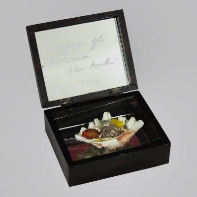 Edin Numankadic, Sarajevo Box 1992-96, Mixed material in wooden box, 16,5x20x21,5 cm.