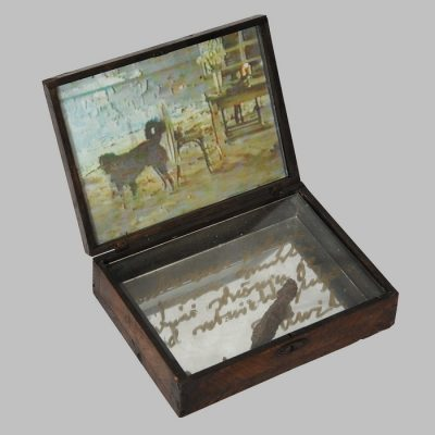 Edin Numankadic, Sarajevo Box 1992-96, Mixed material in wooden box, 21,5x29,5x27,5 cm.