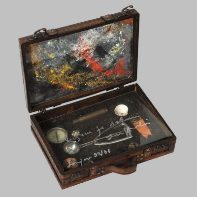Edin Numankadic, Sarajevo Box 1992-96, Mixed material in wooden box, 24x35x30 cm.