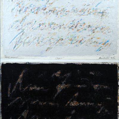 Edin Numankadic, Inscriptions 1997-2003, 2007-2008, Acrylic on paper, 116x77 cm.