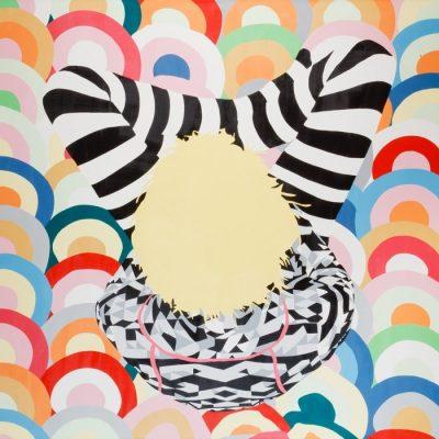 Bahar Oganer, Rings, 2009, Acrylic on canvas, 160x180 cm.