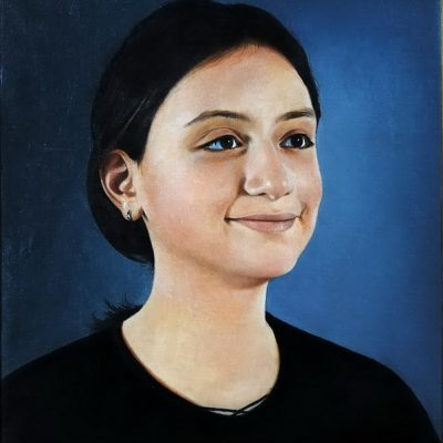 Talant Ogobaev,2002-2003, Oil on canvas, 70x60 cm.