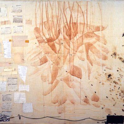 Talant Ogobaev, 2002, Mixed media on canvas, 130x160 cm.