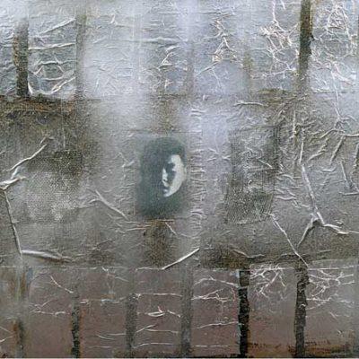 Talant Ogobaev,1999, Mixed media on canvas, 66x76 cm.