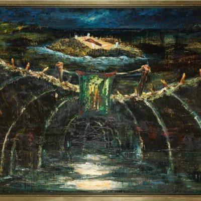 İrfan Okan, 1992, Oil on canvas, 115x160 cm.