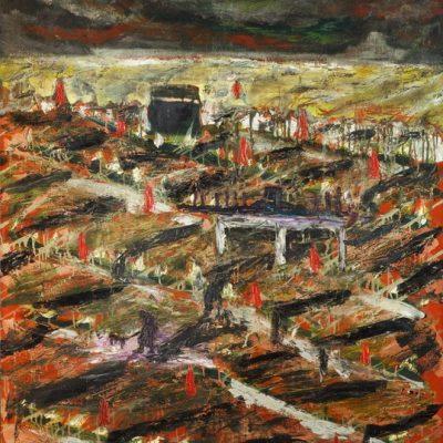 İrfan Okan, Holy Garden, 1991, Oil on canvas, 146x115 cm.